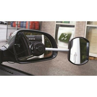 Flat Glass Stick-on Towing Mirror - Suck It & See It Car Caravan Extension