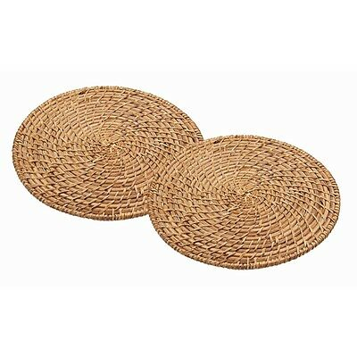 28cm Set Of 2 Master Class Artesã Bamboo Rattan Placemats - Two Drinking Dining