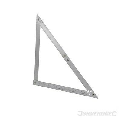 600mm Folding Frame Square - Silverline Aluminium 90 & 45 Degrees Angles Diy