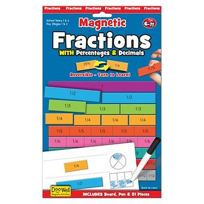 Fractions Magnetic Activity - Games Fiesta Crafts Childrens Numbers Maths