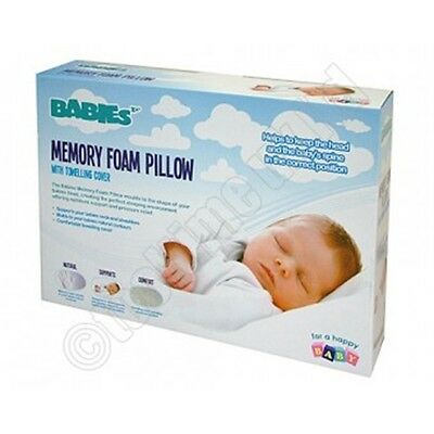 Babies Memory Foam Pillow - Baby's Baby Sleeping Safety Support Cot Bedding