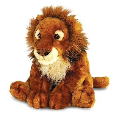 50cm African Lion Soft Plush Toy - Keel Toys Large Wildlife Fluffy Brown Cuddly