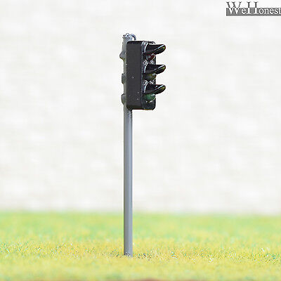 2 x traffic signal light HO OO scale model railroad crossing walk led lamps #GR3