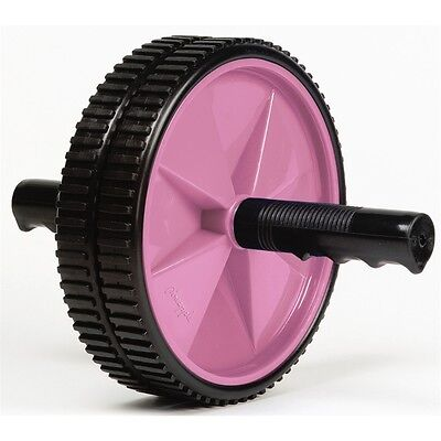Pink Pineapple Duo Exercise Wheel - Ladies Gym Home Training Workout Weight