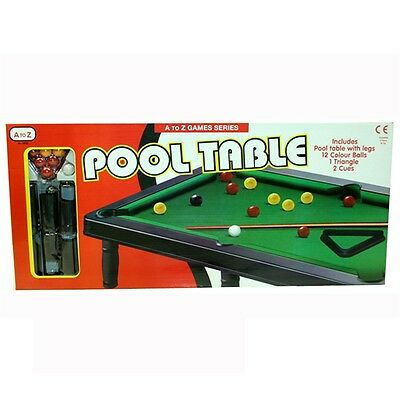 Mini Table Top Pool Table Game - Kids Snooker Table Snooker Por Toy New