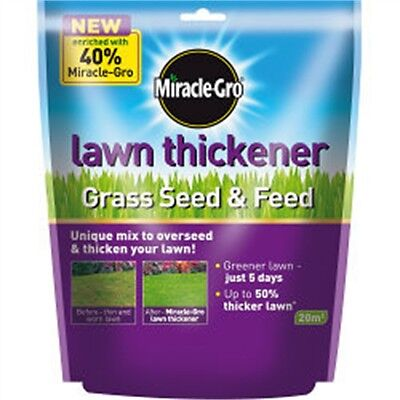 20m2 Miracle Gro Lawn Thickener - Scotts Grow Grass Seed Feeding Growing