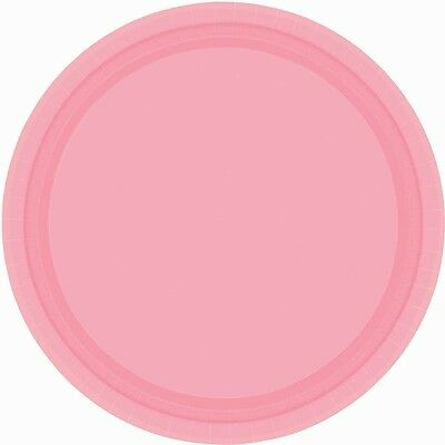 Amscan International 22.8cm Paper Plates New Pink, Pack Of 24
