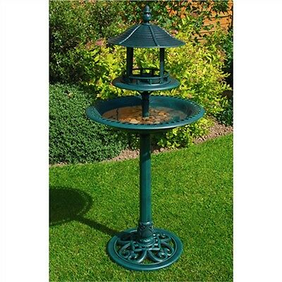 Ormanental Bird Bath And Table - Garden Ornamental Cast Iron Effect &