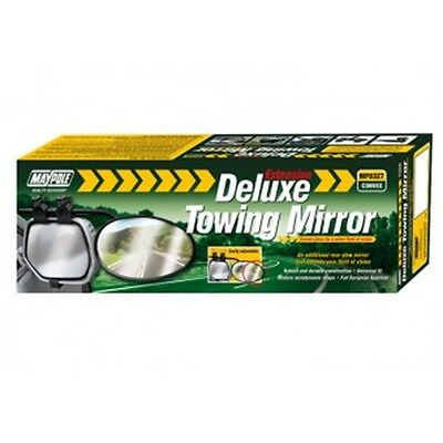Universal Convex Caravan Mirror - Towing Maypole Deluxe Glass Extension Mp8327
