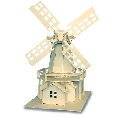 Windmill Woodcraft Construction Kit - Fsc Kids Wooden Model Game Building Puzzle