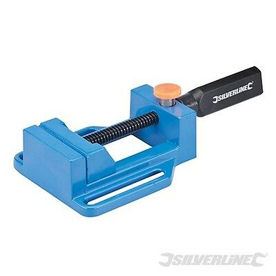 65mm Drill Press Vice - Cast Aluminium Notched - Silverline New Jaw Opening