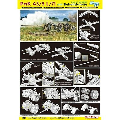 1:35 Pak 43/3 L/71 Mit Behelfslafette Model Kit