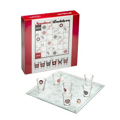 Snakes & Ladders Drinking Game - & Board 6 Shot Glasses Hen Stag Party Adult