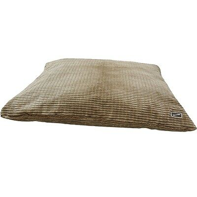 Small Brown Cord Dog Cushion - Hem And Boo Easy To Clean Super Soft Corded