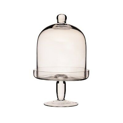 26cm x 16cm Master Class Artesã Glass Domed Footed Serving Stand - 26cmx Cake