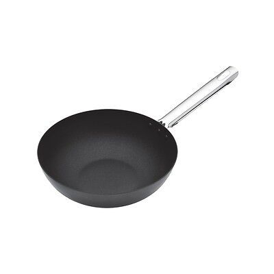 24cm Master Class Professional Heavy Duty Non-stick Wok With Stainless Steel