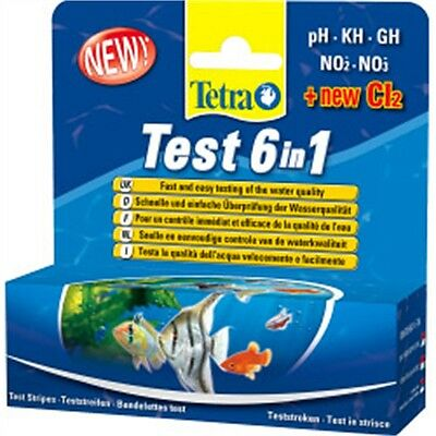 Tetra Aquarium 6-in-1 Test Strip - 6 1 25 Strips Water 6in1 Ph Gh