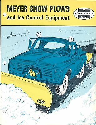 Equipment Brochure - Meyer - Snow Plows Ice Control Accessories 7 items (E3333)