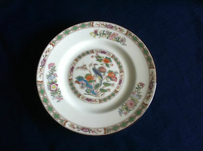 "Wedgwood Kutani Crane (brown rim ) 6"" side plate"