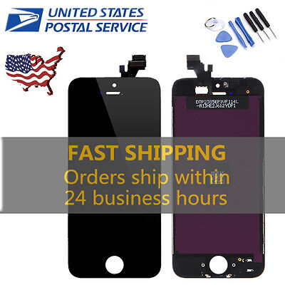 New LCD Display + Touch Screen Digitizer Assembly Replacement for iPhone 5 Black