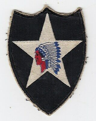 Us Army Patch - 2Nd Infantry Division - Original - Wwii