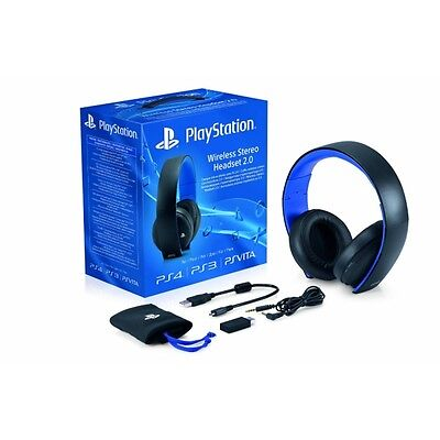 Playstation 4 Original SONY 2.0 Wireless Stereo Headset 7.1 PS4 PS3 PS Vita NEU