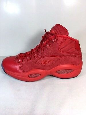 NEW WOMENS REEBOK X TEYANA TAYLOR QUESTION MID BD4487 Red