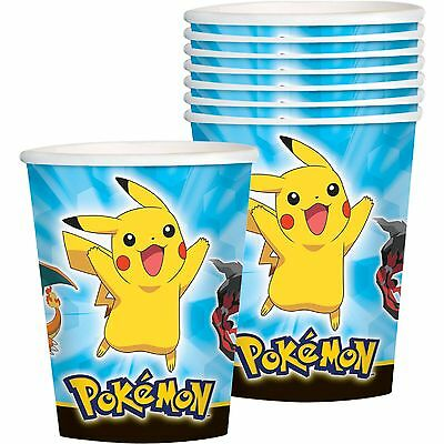Pokemon Pikachu Birthday Party Supplies Paper Cups Cup (Pack Of 8)