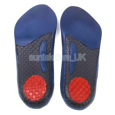 Men's Velvet Fabric 3/4 Orthotic Insoles Arch Support Plantar Fasciitis Pads