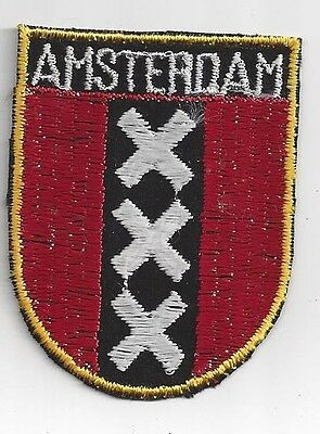 City Of Amsterdam Netherlands Souvenir Travel Patch -