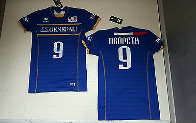 Errea France Ngapeth Match Volleyball Shirt Jersey Maglia Pallavolo Francia Home