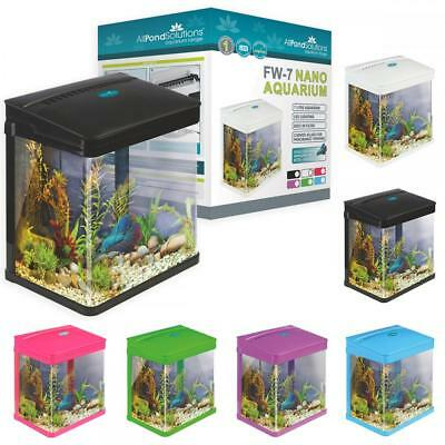 Small Nano Aquarium Fish Tank Coldwater Tropical LED Lighting 7 / 14 / 29 Litres