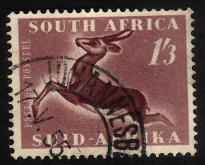 1953, South Africa, 1'3 Sh'p, Used, Springbok, Sc 196