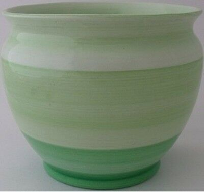 Stylish Shelley Jardiniere / Planter / Pot With Banded Design - Art Deco