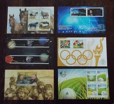 Irish Ireland Mint Stamp Miniature Sheets (Issues 2007-12) Individual Selection