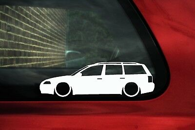 2x Lowered car stickers - for VW Passat B5.5 (B5 facelift) estate wagon | LC005