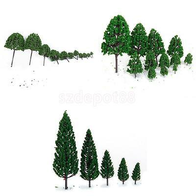 33 Mixed Model Green Trees Train Set Scenery Street Party Landscape Scale 1:50