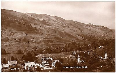 Early Real Photo Postcard Motorcar Strathyre Village From East-Perthshire