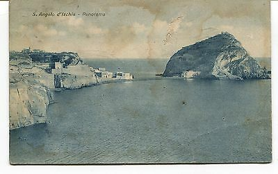 1940 S. Angelo d'Ischia Guller Napoli destinazione Lucca FP B/N VG