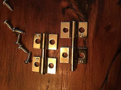 Pair Friction Hinges for dresser mirrors polished brass 1353pb
