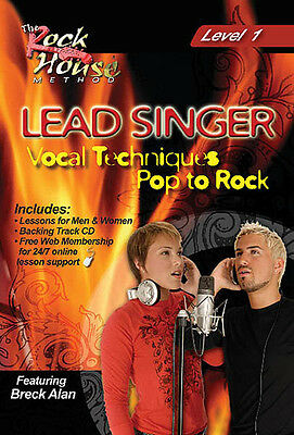 Lead Singer Vocal Techniques Level 1 Pop to Rock House Video Lessons DVD CD NEW