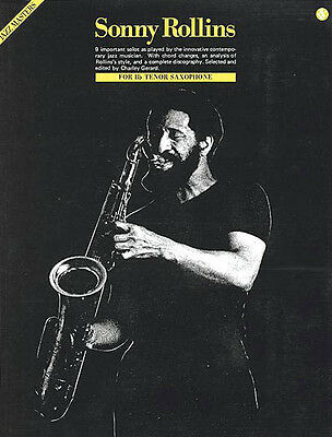 SONNY ROLLINS JAZZ Masters Series for Bb Tenor Sax Sheet Music 9 Solos Book  NEW