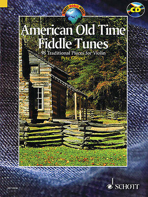 American Old Time Fiddle Tunes for Violin Solo Folk Sheet Music Book CD Pack NEW