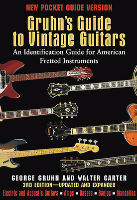 Gruhn's Guide to Vintage Guitars 1st Pocket Guide Edition Collector Book NEW