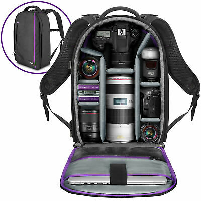 Large Camera Backpack Bag for Canon Nikon DSLR & Mirrorless by Altura Photo®