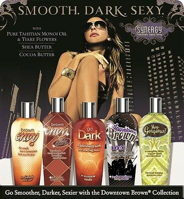 Synergy Tan Downtown Brown Collection Tanning lotion Bottle - Fast Free Shipping