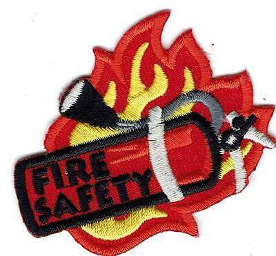 Girl Boy Cub FIRE SAFETY Extinguisher PLANNING Patches Crests Badges SCOUT GUIDE
