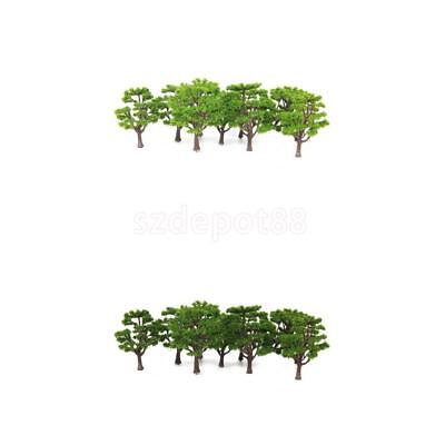 20pcs Model Trees Train Railway Diorama Park Architecture Scenery Layout HO N