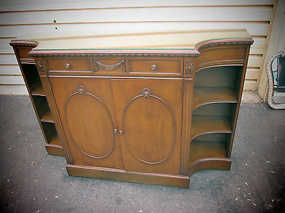 55609  Antique Mahogany Buffet Sideboard Server Credenza