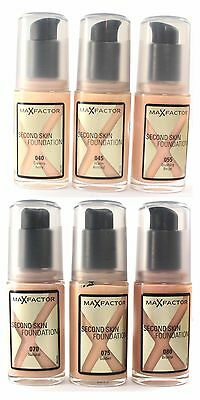MAX FACTOR Foundation Second Skin x 2 pack CHOOSE Ivory Almond Beige Natural